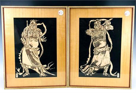 Samurai Warrior or Asian God Framed Artwork Prints