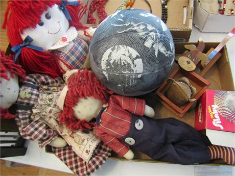Cloth Raggedy Ann and Andy Doll and Toys