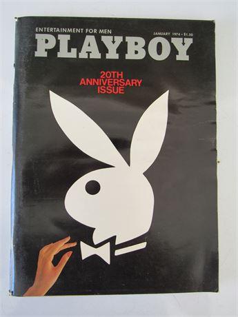 Playboy 20th Anniversary Magazine w/ Centerfold