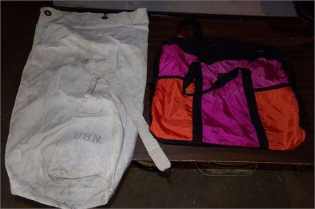 USN canvas bag and Amelia Earhart bag