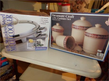 Treasure Craft Canisters and Multi Cooker