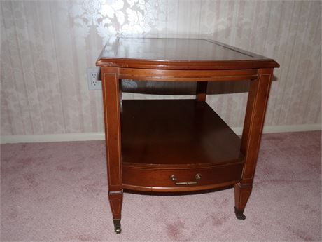 Hammery Leather top End Table