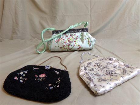 Three Beaded Handbags