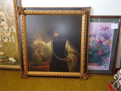 Large Framed Picture- Bust of Homer - Rembrandt