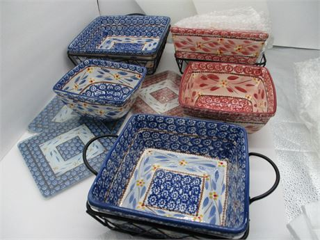 New TEMP-TATIONS Old World Complete Presentation Square Oven Ware