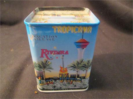 """Flamingo Hotels &Casino  Vegas 4 """" Tin Litho Coin Bank"""