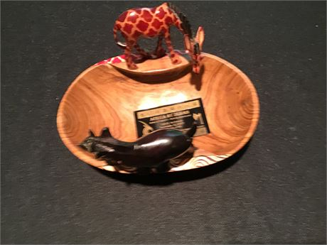Africa By Design Wood Carved Bowl