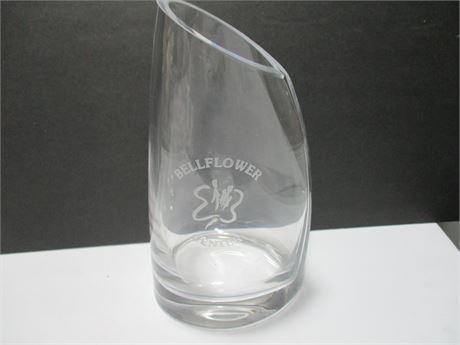 """Beautiful 10"""" Fine Crystal Heavy Glass Bellflower Center Vase"""