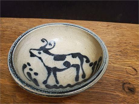 B. Stebner Salt Glazed Stoneware Bowl Cobalt