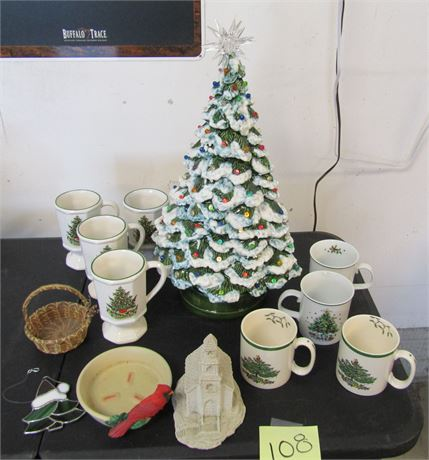 Pfaltzgraph Mugs, Lighted Ceramic Tree & More