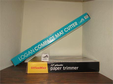 Logan Compact Mat Cutter, Blades & Paper Trimer