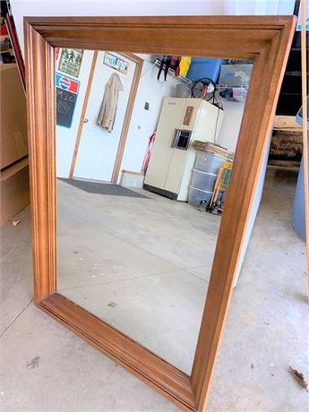 Broyhill Oak Framed Wall Mirror