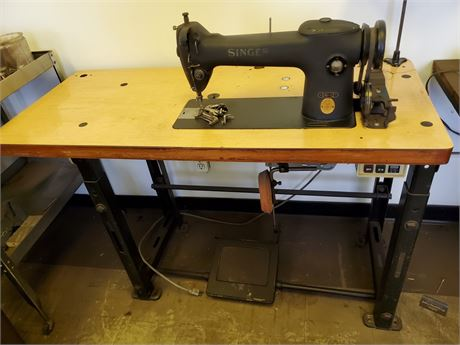 Antique Singer 241-12 Sewing Machine on Heavy Duty Adjustable Base