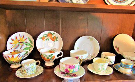 Porcelain Tea Cup and Saucer Sets