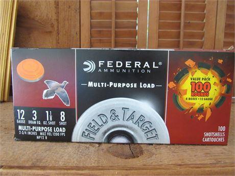 Federal 12 GA 100 Shot Gun Shells, Multi-purpose