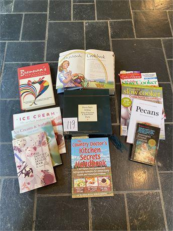 Cookbooks Lot - Including Vintage Encyclopedia of Cooking
