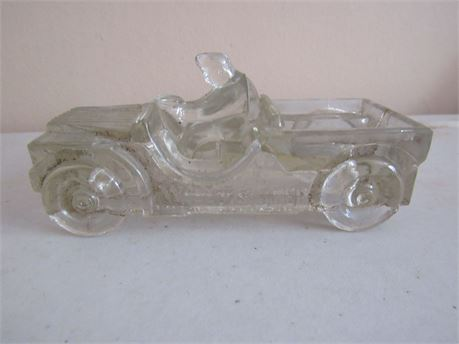 Glass Willy's Jeep Millstein Candy Container