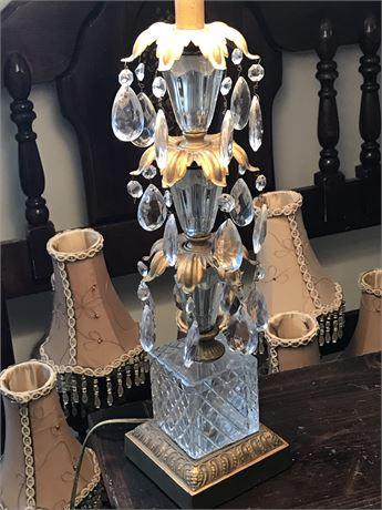 Crystal Adorned Lamp