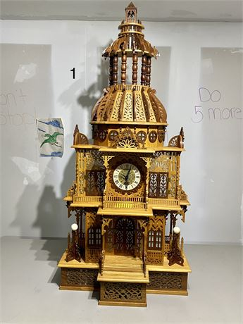 Vintage Dome Clock - Scroll Saw Created Fretwork Masterpiece