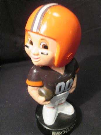 "Vintage Cleveland Browns 00 Plastic Player 7 1/2"" bobble Head"