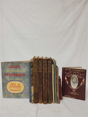 Encyclopedia Britannica Alice in Wonderland and other Vintage Books
