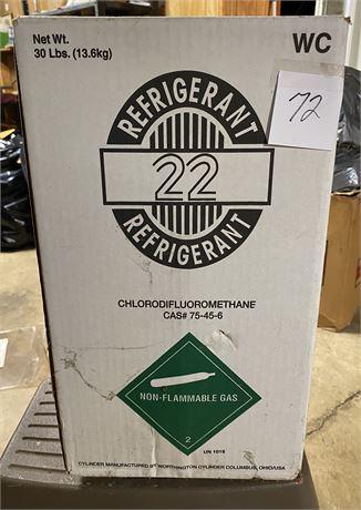 Full 30 lb Can of Refrigerant in Original Box