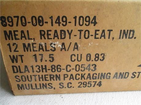 New Case US Army Military MRE 12 Asst Meat Meals Ready To Eat