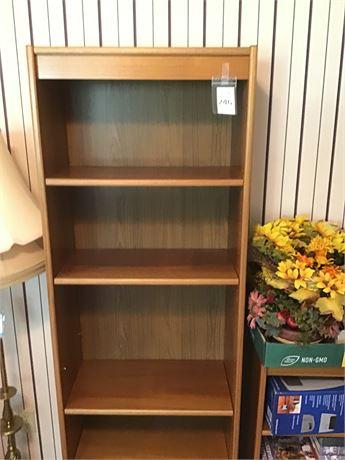 Wood 5-Shelf Bookcase