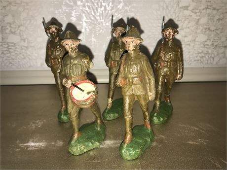 Trico Toy Soldiers - Lot of 5 as found