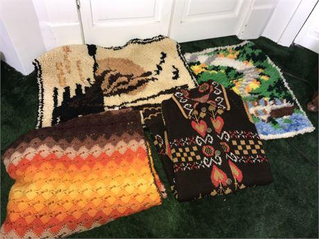 Handmade Rugs, Afghan and Sweater