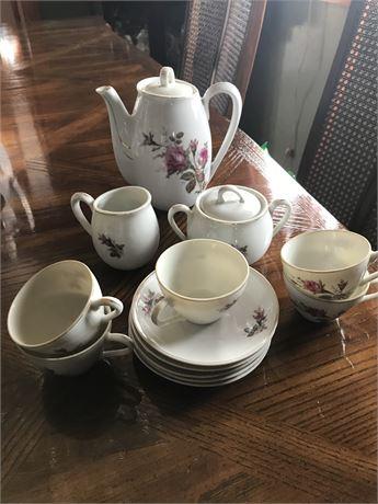Antique Rose Tea Set
