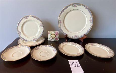 "Lenox ""Southern Vista"" Fine Ivory China and Lenox Mantle Clock"