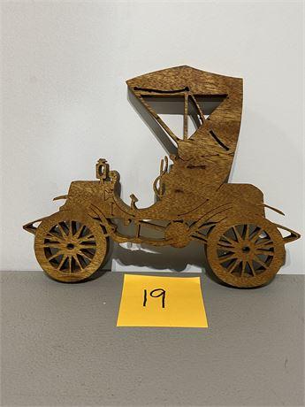 Vintage Handmade Old Time Car Scroll Saw Art #2