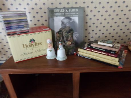 Native American Books, Music, Bells, and Nativity Set
