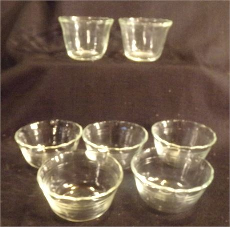 Pyrex and Fire King custard dishes