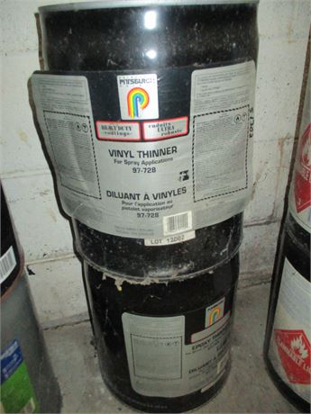 2 -  5 Gallon Pails Premium one each of Pittsburgh Vinyl &  Epoxy Thinners Lot