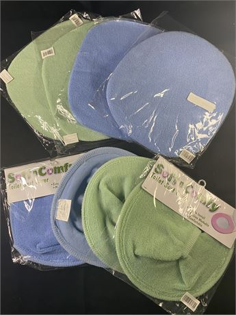 4 sets of toilet seat covers.Each set covers lid and seat.