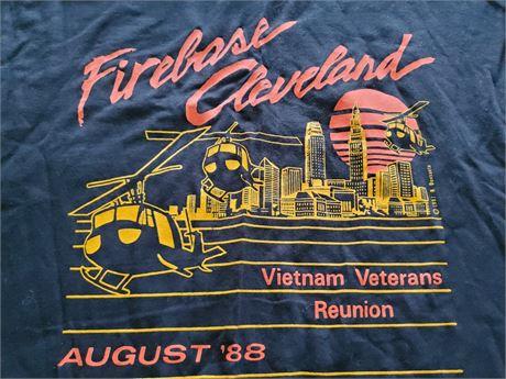 Firebase Cleveland T Shirts x 2 Large Vietnam Veterans 88