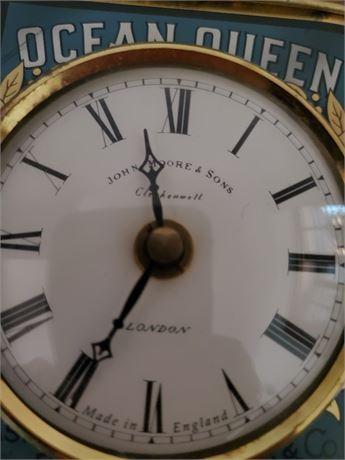 Roger Lascelles Clocks of London in Antique Ocean Queen Tin
