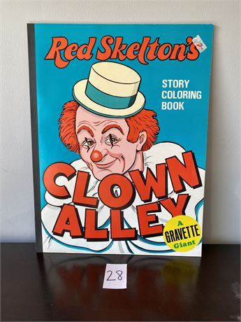 Giant 1975 Red Skelton's Clown Alley Story Coloring Book