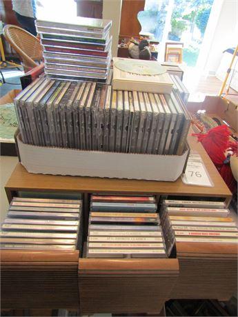 Music CDs and CD Racks
