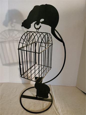 Metal Cats & Birdcage