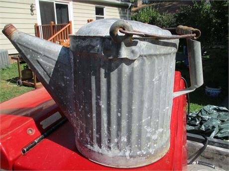 Large  # 520 Galvanized Zinc Garden Sprinkler Can w/ Spout