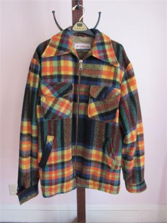 1950s McGregor Plaid Jacket, wool blend