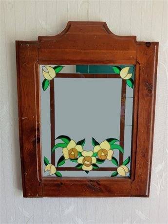 Tiffany Style Painted Mirror