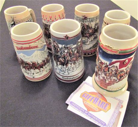 Budweiser Clydesdales Series Collectable Beer Steins