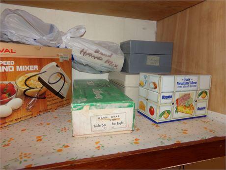 Hand Mixer, Hand Blender, Silverware, Recipe Boxes