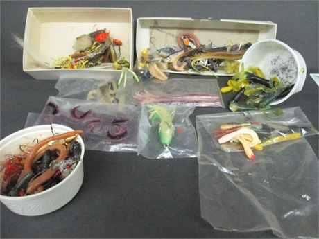 Vintage Huge Lot assorted 70's Misc Fishing Lures Tackle & Jigs