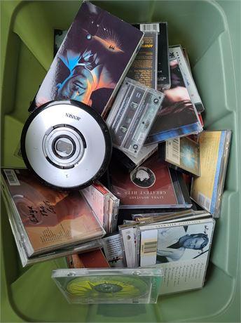 CD - VHS - Cassette Lot