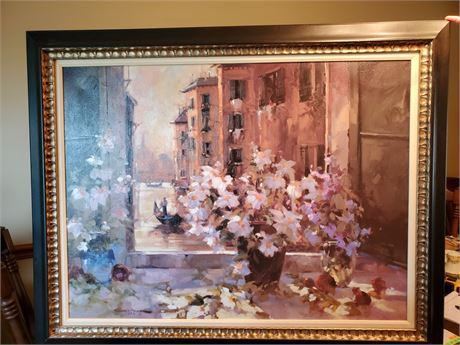 Beautiful Framed Oil on Canvas
